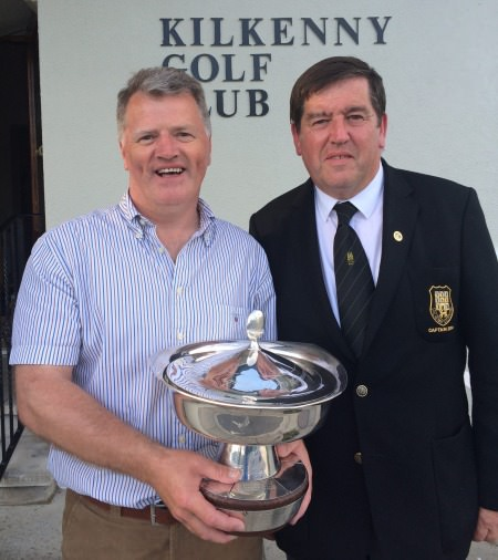 Eddie Power and Kilkenny Golf Club captain Denis Brophy