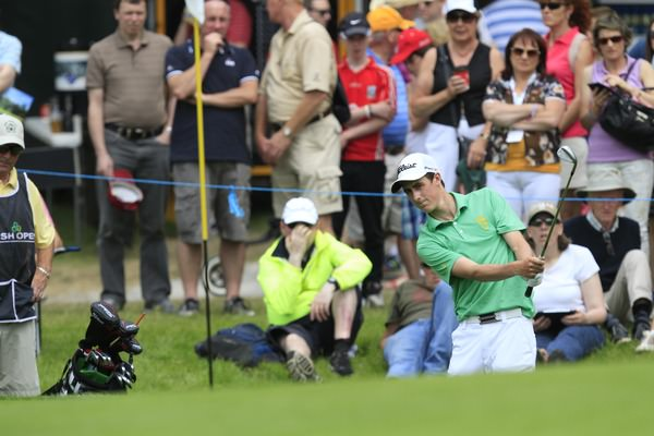 Gary Hurley at the ninth during round three of the Irish Open at Fota Island. Picture: Thos Caffrey / www.golffile.ie
