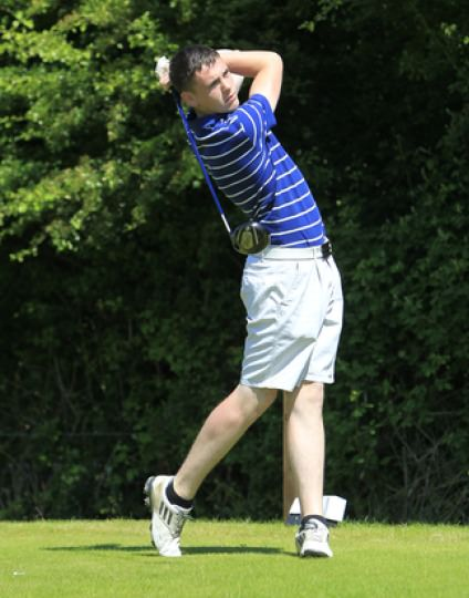 Rob Brazill (Naas) in action in the Leinster Youths recently. Picture: Thos Caffrey / www.golffile.ie