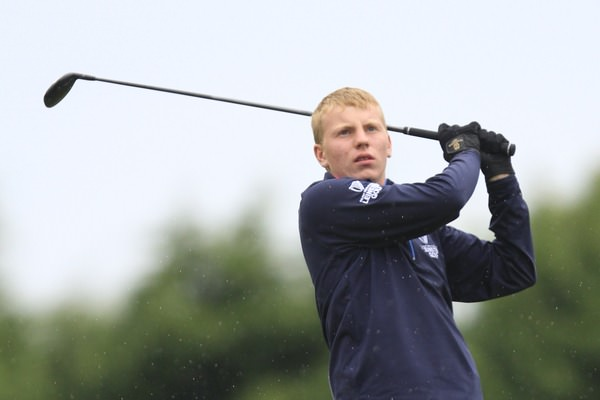 Alan Fahy (Bray), pictured during the recent Irish Boys Amateur Open at Thurles, leads the Leinster Boys with a round to go. Picture: Thos Caffrey / www.golffile.ie