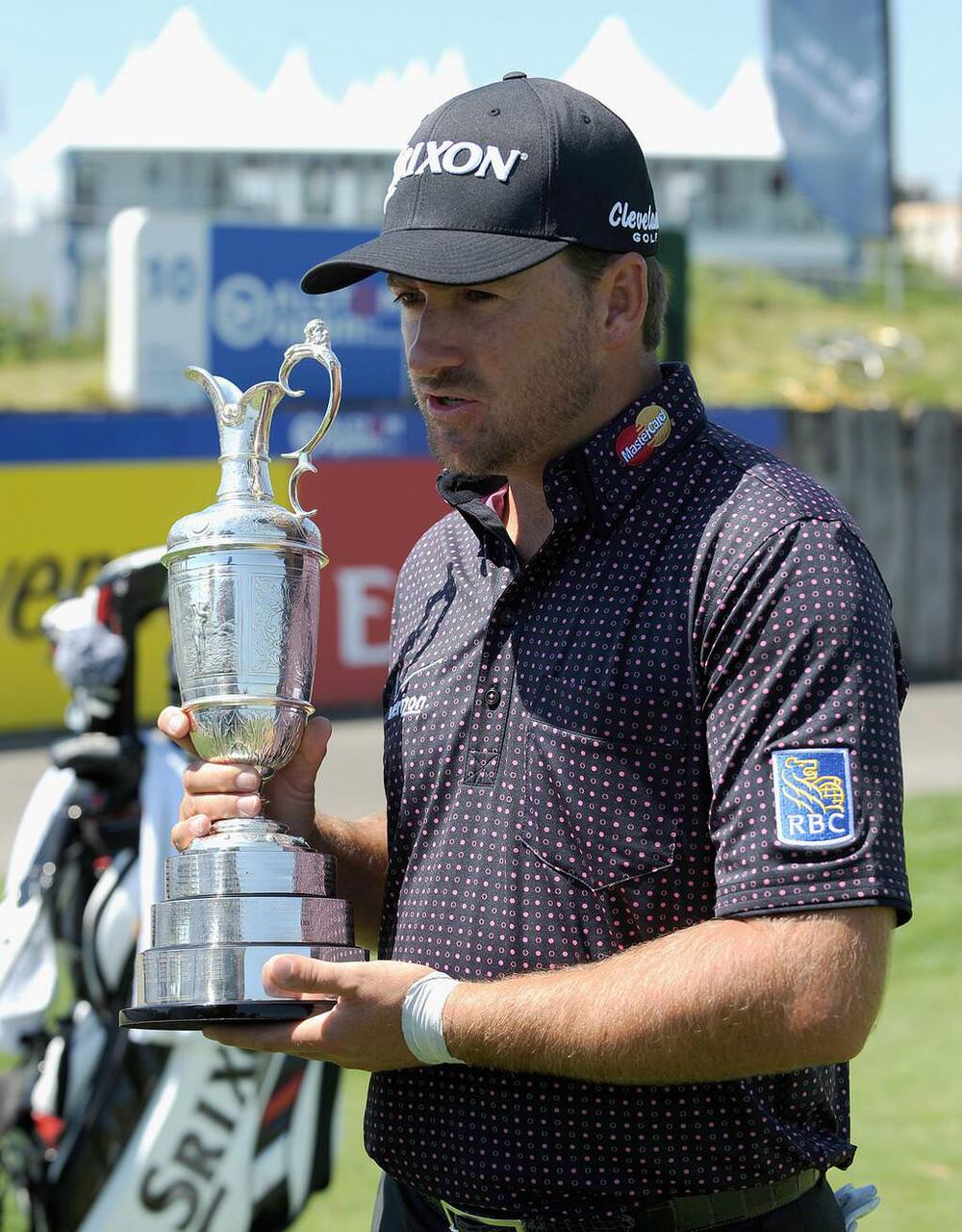 Graeme McDowell with the Claret Jug in Paris this week. An omen?