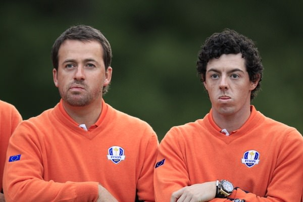 Graeme McDowell and Rory McIlroy at Medinah Country Club in 2012. Photo Eoin Clarke / www.golffile.ie