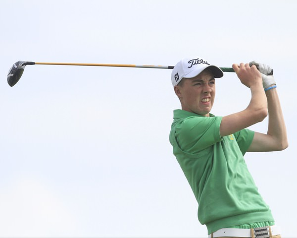 Kevin Le Blanc is in contention at the Junior Open. Picture: Thos Caffrey / www.golffile.ie