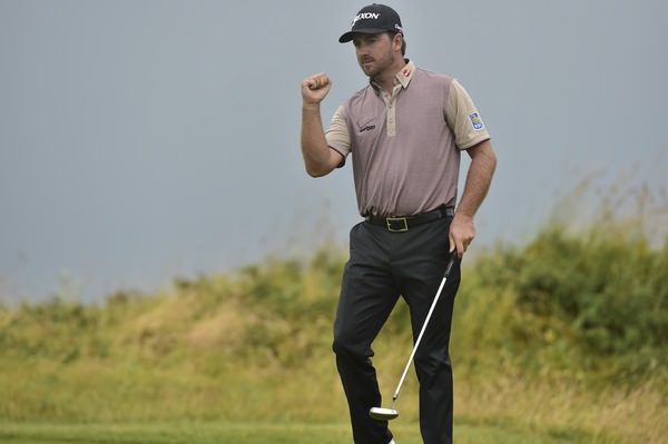 Graeme McDowell celebrates one of his birdies on Saturday at Hoylake. Picture Eoin Clarke  www.golffile.ie