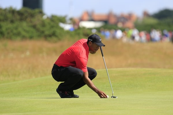 Tiger Woods at Royal Liverpool on Sunday. Picture Eoin Clarke,  www.golffile.ie