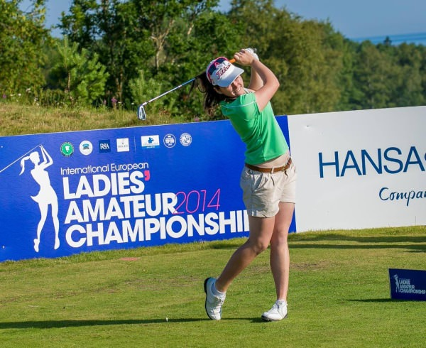 Olivia Mehaffey in action in the International European Ladies' Amateur Championship at Estonia Golf and Country Club.
