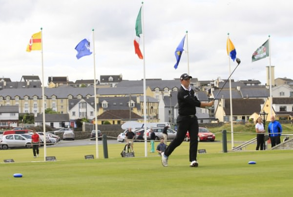 Alan Lowry (Esker Hills) tees off in the third round of the Clare Coast Hotels sponsored South of Ireland atLahinch Golf Club on Monday 28th July 2014. Picture: Thos Caffrey /  www.golffile.ie