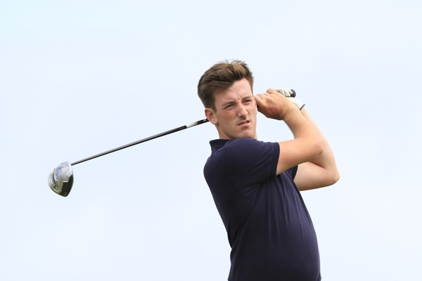 Richard Knightly is in excellent form at Lahinch. Picture: Thos Caffrey / www.golffile.ie