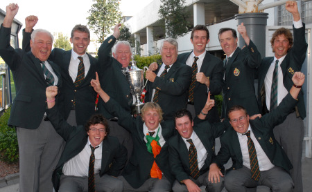 Richard KIlpatrick, top row, third from the right, was a member of the side that won the European Amateur Team Championship in 2007.  Also pictured: Gareth Shaw, Rory McIlroy, Simon Ward, Jonny Caldwell and Shane Lowry, who was Kilpatrick's foursomes partner.