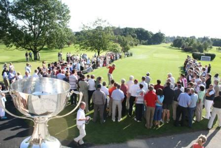 Crowds gather to watch the Mulligar Scratch Cup - an institution in Irish golf.