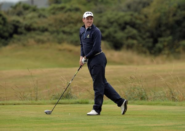 Richard Knightly (The Royal Dublin) driving during the AIG Barton Shield final at Laytown & Bettystown Golf Club today (02/08/2014). Picture by  Pat Cashman