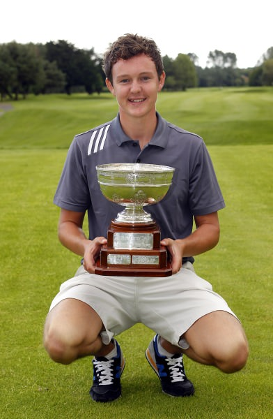 John-Ross Galbraith, Ulster Youths champion 2014. Pic: David Ross/Ulster Golf