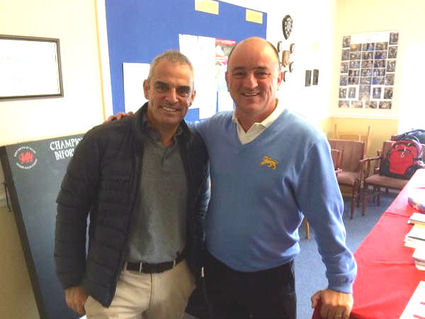 Ryder Cup and Walker Cup skippers Paul McGinley and Nigel Edwards were at Southerndown.