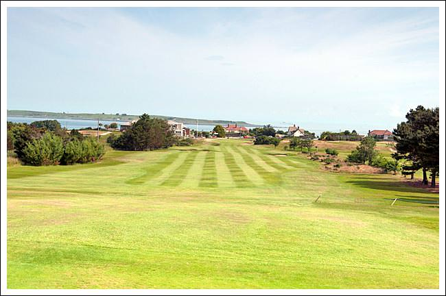 The 18th at Donaghadee. Picture via  donaghadeegolfclub.com