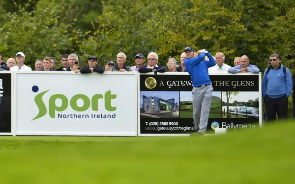 Michael Hoey in action at Galgorm Castle. Picture via European Tour