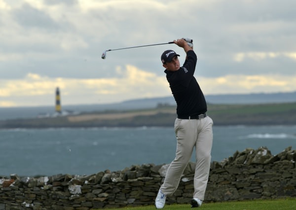 Alan Lowry (Esker Hills) playing his tee shot at the 17th hole in the final round of 2014 Irish Youths Amateur Close Championship at Ardglass Golf Club. (29/08/2014) Picture by  Pat Cashman