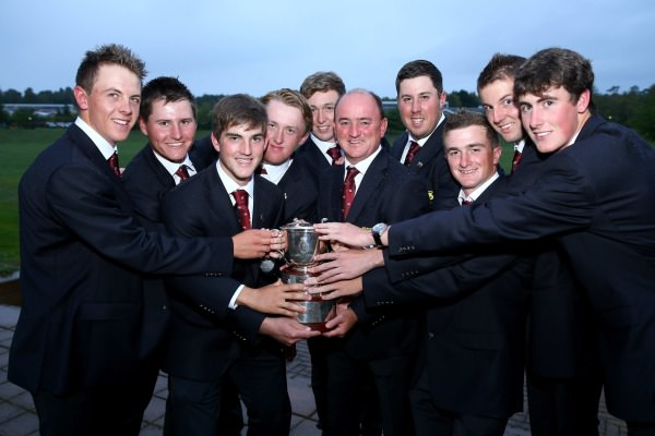 Great Britain and Ireland with the St Andrews Trophy. Picture courtesy The R and A