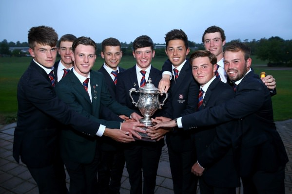 Great Britain and Ireland with the Jacques Leglise Trophy. Picture courtesy The R and A