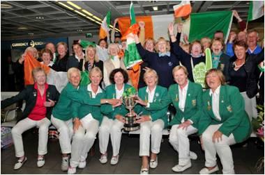 Ireland — European Senior Ladies Team Championship winners 2013. Picture © ILGU