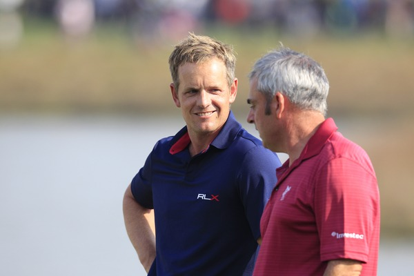 Paul McGinley and Luke Donald in Shanghai last year. Picture: Eoin Clarke/www.golffile.ie