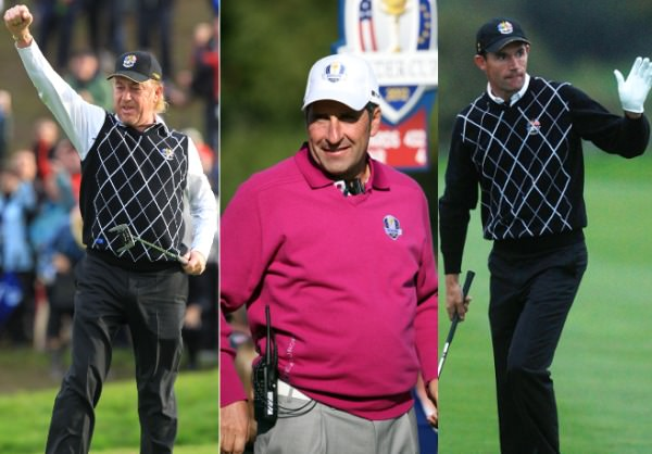 Miguel Angel Jiménez, José María Olazábal and   Pádraig Harrington,