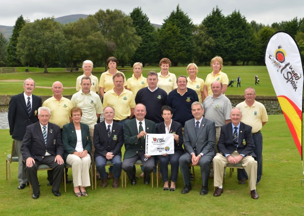 Castlecomer Irish Mixed Foursomes team beaten finalists in the final of the I Need Spain Irish Mixed Foursomes at Warrenpoint Golf Club today (05/09/2014). Picture by Pat Cashman