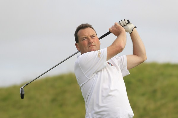Eamonn Haugh, pictured during this year's South of Ireland Championship, leads the Munster Mid-Am at Limerick. Picture: Thos Caffrey / www.golffile.ie