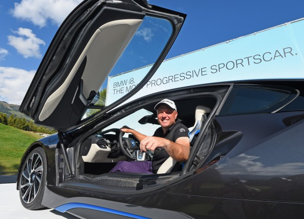 Graeme Storm with his new BMW sports car. Picture © Getty Images