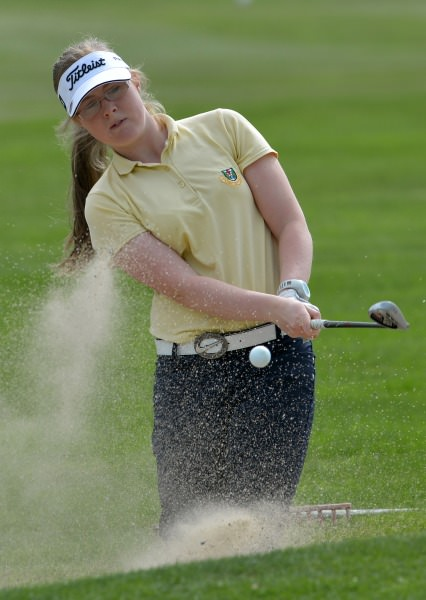 Lorna Mullally (Tuam) competing in the 2014 Miele All Ireland Ladies Interclub Fourball Regional Finals at Athlone Golf Club (08/09/2014).  Picture by   Pat Cashman
