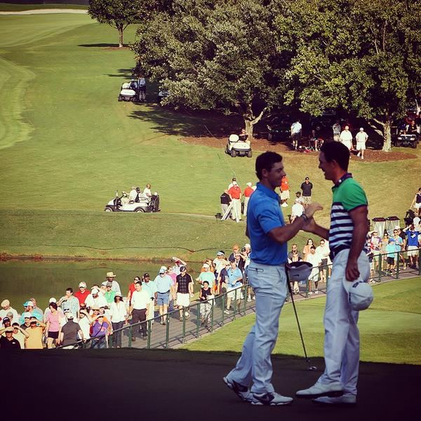 Rory McIlroy and Billy Horschel. Picture via  Twitter.com/PGATOUR