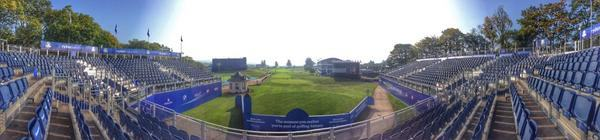A panoramic view of the first tee at Gleneagles. Picture © Brian Keogh