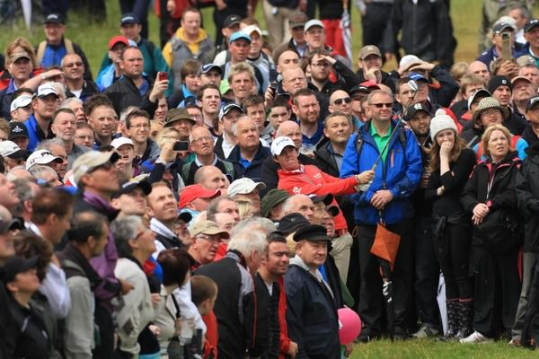 Rory McIlroy during the 2012 Irish Open at Royal Portrush. Picture Fran Caffrey  www.golffile.ie