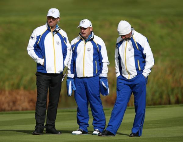 Padraig Harrington, Paul McGinley and Jose Maria Olazabal at Gleneagles.
