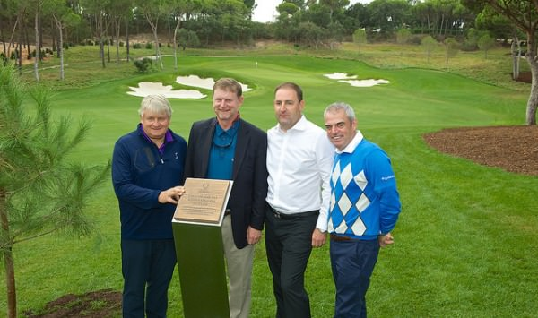 (Left to right) Denis O'Brien (Quinta do Lago owner), Beau Welling, John Dwyer (Quinta do Lago CEO) and Paul McGinley open the North Course.