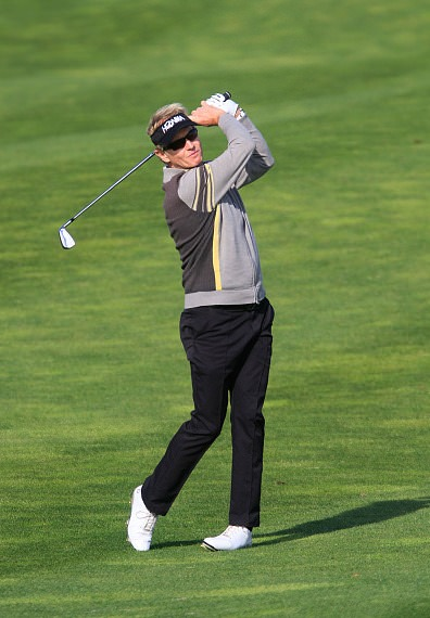 Phil Golding is out in front in Amsterdam. Picture via European Senior Tour