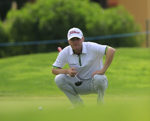 Michael Hoey in action in the second round of the Portugal Masters. Picture Fran Caffrey / © www.golffile.ie