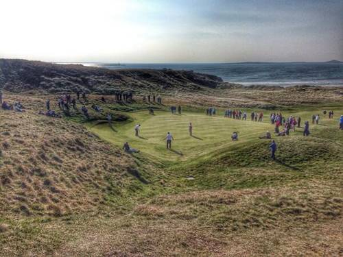The 17th at County Sligo during the 2014 West of Ireland Amateur Open.