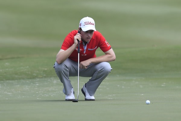 Kevin Phelan on the 16th in Hong Kong. Picture: Thos Caffrey /  www.golffile.ie