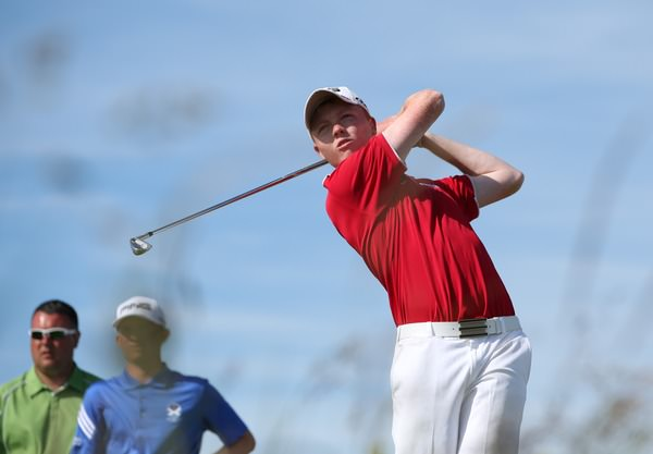 Tramore's Robin Dawson in action during the British Amateur at Royal Portrush earlier this year. Picture:  David Lloyd /  www.golffile.ie