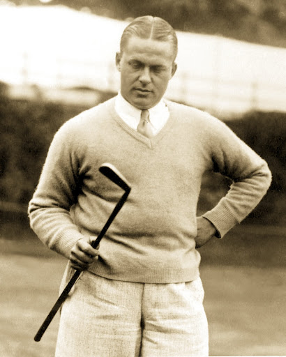 Bobby Jones and Calamity Jane, the putter he came across at Nassau Country Club.