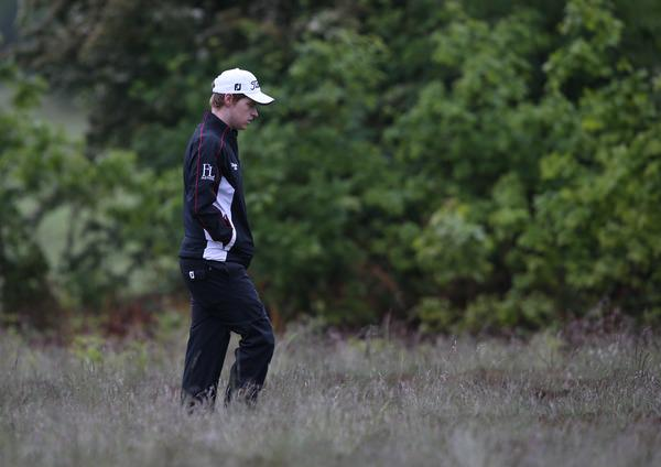 In the rough. Kevin Phelan failed to qualify at the US Open Championship International Sectional Qualifier at Walton Heath. Picture: David Lloyd /  www.golffile.ie