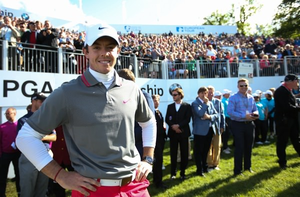 Rory McIlroy basks in the limelight of his BMW PGA Championship win at Wentworth last May. Picture: David Lloyd /  www.golffile.ie