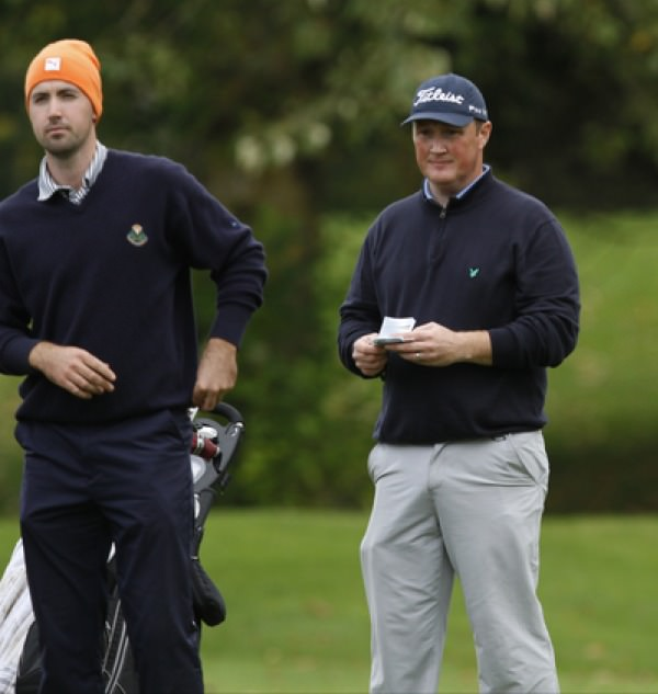 Niall Kearney and Michael McGeady, first and second in the Irish PGA at Adare Manor and the top two in the PGA Irish Region this season, are leading the Irish challenge at the Second Stage of the Qualifying School in Spain. Picture: Thos Caffrey /  www.golffile.ie