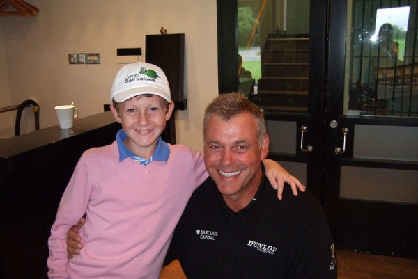 Darren Scott with Darren Clarke back in 2008