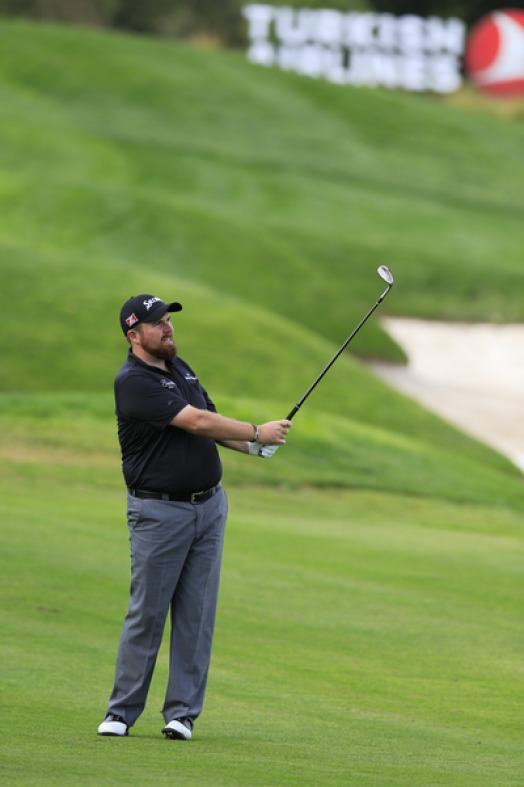 Shane Lowry during the first round of the Turkish Airlines Open. Picture Fran Caffrey www.golffile.ie