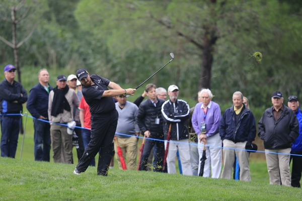 Shane Lowry plays from the rough. Picture Fran Caffrey www.golffile.ie
