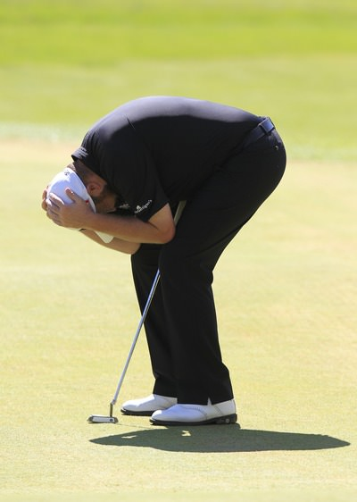 Shane Lowry laments a missed putt in the Crans in the first event of hi current run. Picture Eoin Clarke,  www.golffile.ie