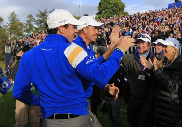 Rory McIlroy and Henrik Stenson. Picture Fran Caffrey, www.golffile.ie