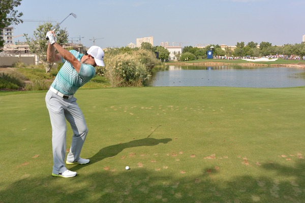 Rory McIlroy in Dubai on Friday. Picture Fran Caffrey www.golffile.ie