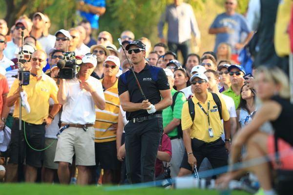 Henrik Stenson en route to victory.Picture Stuart Adams,  www.golftourimages.com